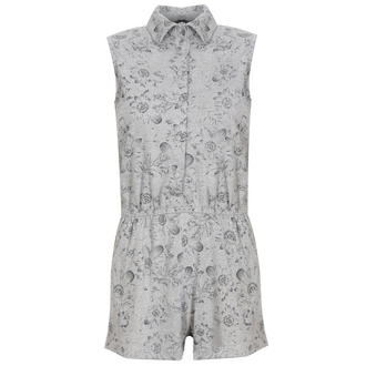 View Item Grey Floral Sleeveless Playsuit